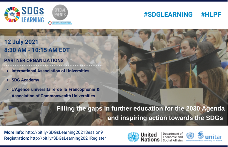 Filling the gaps in further education for the 2030 Agenda