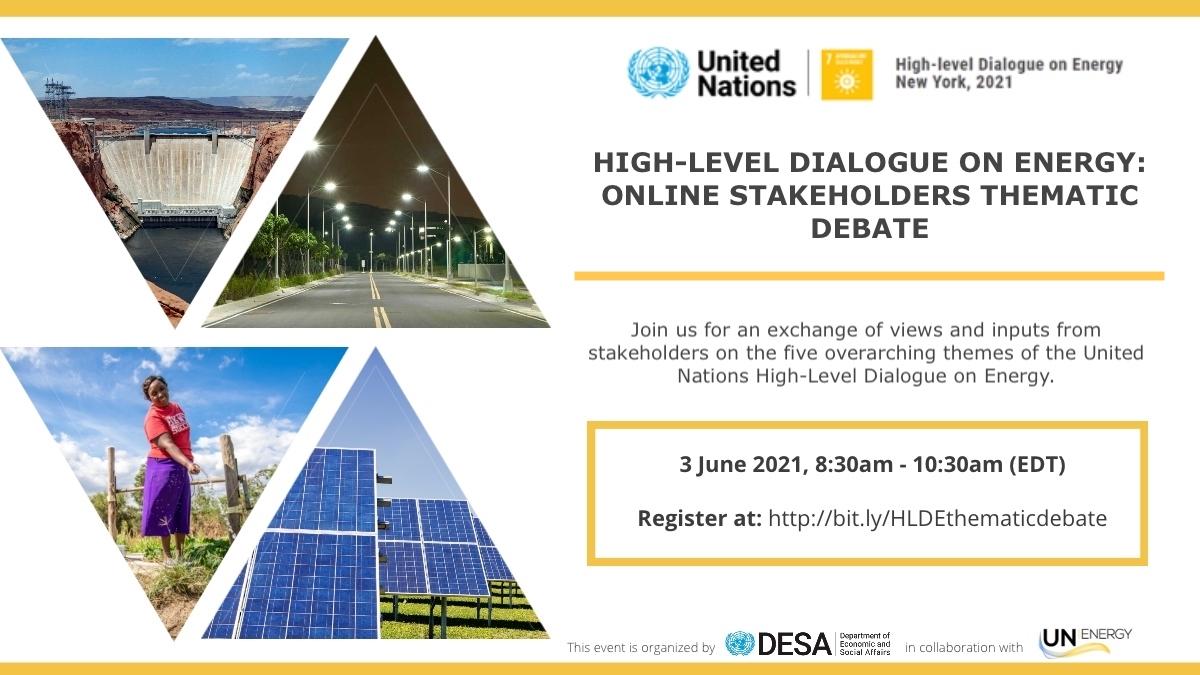 HLDE2021 - Online Stakeholders Thematic Debate